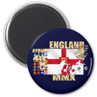 England Large flag rampant lion Africa MMX gifts 2 Inch Round Magnet
