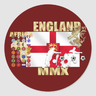 England Large flag rampant lion Africa MMX gifts Classic Round Sticker