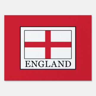 England Lawn Sign