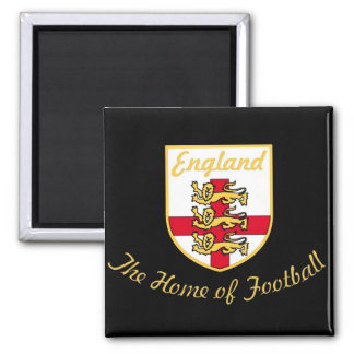 England, Lions, The Home of Football (Soccer)Badge 2 Inch Square Magnet