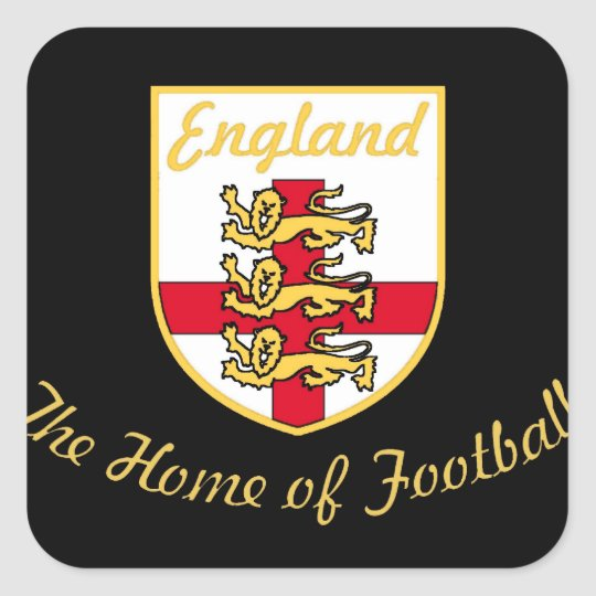 England, Lions, The Home of Football (Soccer)Badge Square Sticker