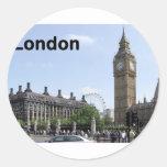 England London Big Ben (St.K) Round Stickers