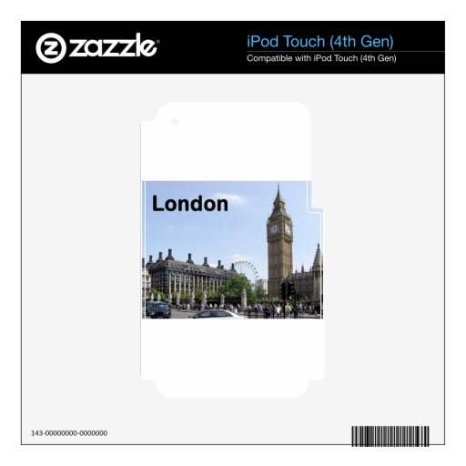 England London Big Ben (St.K) Skins For iPod Touch 4G