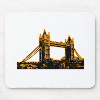 England London Bridge Orange Black The MUSEUM Zazz Mouse Pad