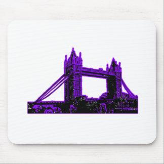 England London Bridge Purple Black The MUSEUM Zazz Mouse Pad