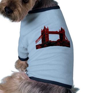 England London Bridge Red Black The MUSEUM Zazzle Dog Tee Shirt