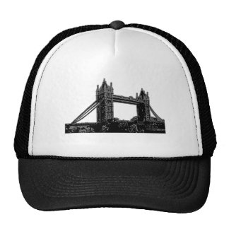 England London Bridge Silver Black The MUSEUM Zazz Trucker Hat