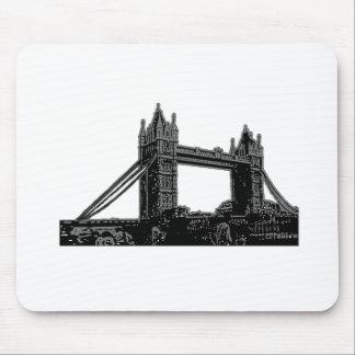 England London Bridge Silver Black The MUSEUM Zazz Mouse Pad