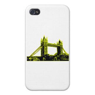 England London Bridge Yellow Black The MUSEUM Zazz iPhone 4 Case
