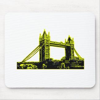 England London Bridge Yellow Black The MUSEUM Zazz Mouse Pad