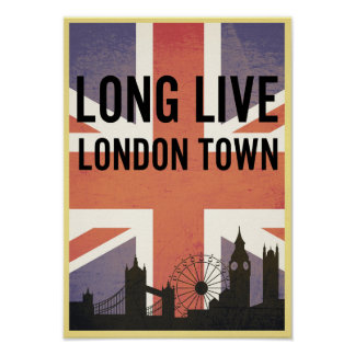 England London Flag Poster