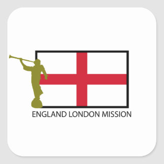 ENGLAND LONDON MISSION LDS CTR SQUARE STICKER