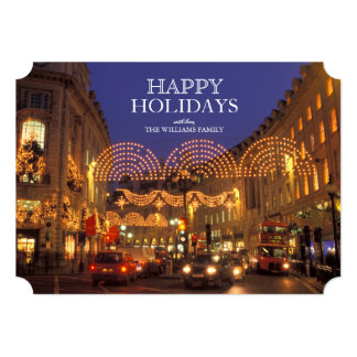 England, London, Regent street at Christmas. Card