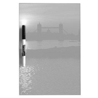 England London sunset Tower Bridge 1970 Dry-Erase Whiteboards