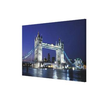 England, London, Tower Bridge 3 Canvas Print