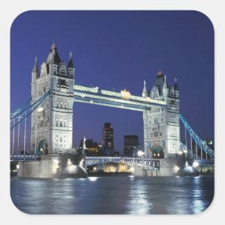 England, London, Tower Bridge 3 Square Sticker