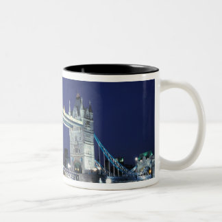 England, London, Tower Bridge 3 Two-Tone Coffee Mug