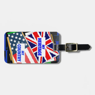 England my Heritage USA my Country Luggage Tag