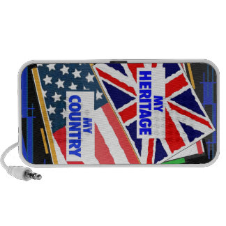 England,...my Heritage, USA,...my Country. iPhone Speaker