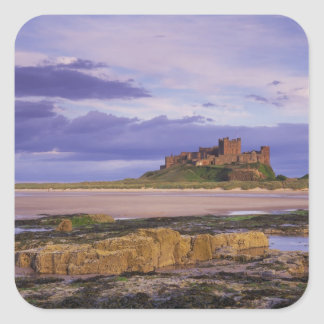 England, Northumberland, Bamburgh Castle Square Sticker