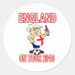 ENGLAND On tour Round Sticker