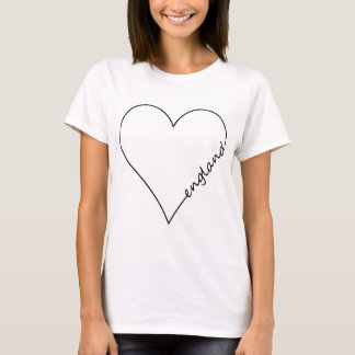 England Outline Heart T-Shirt
