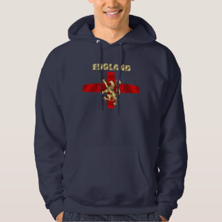 England outline logo and lion soccer gifts hooded sweatshirts
