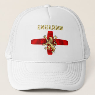 England outline logo and lion soccer gifts trucker hat