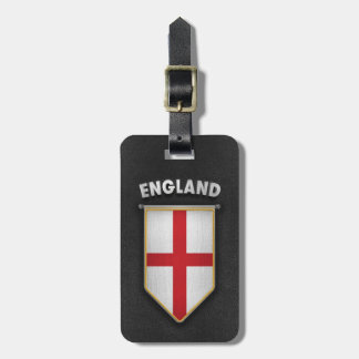 England Pennant with high quality leather look Luggage Tag