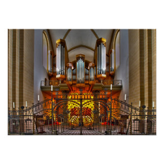 England Pipe Organ Poster
