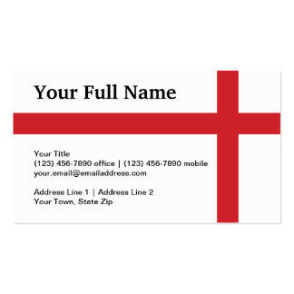England Plain Flag Double-Sided Standard Business Cards (Pack Of 100)