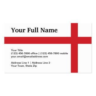 England Plain Flag Business Cards