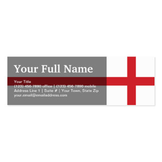 England Plain Flag Double-Sided Mini Business Cards (Pack Of 20)
