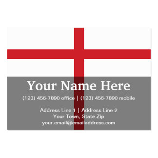England Plain Flag Large Business Cards (Pack Of 100)