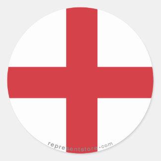 England Plain Flag Classic Round Sticker