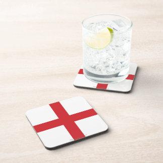 England Plain Flag Drink Coasters