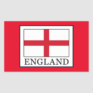 England Rectangular Sticker