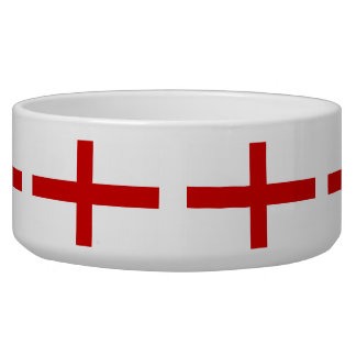 England red cross of St George flag Dog Bowls