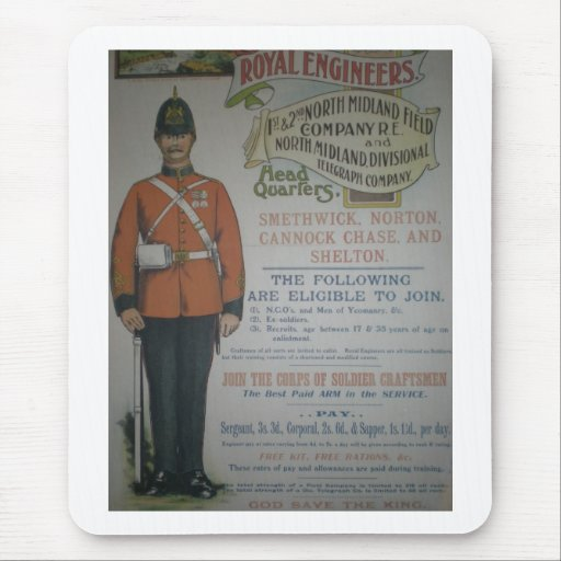 England Royal Engineers recruitment poster 1890 Mouse Pad