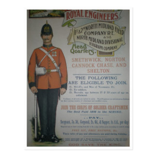 England Royal Engineers recruitment poster 1890 Post Cards