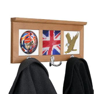 England Royal Flag Eagle Bird Destiny Home Office Coat Racks