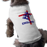 England Royal standard and St George cross Dog T-shirt