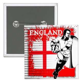 England Rugby Button