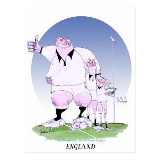 england rugby chums, tony fernandes postcard
