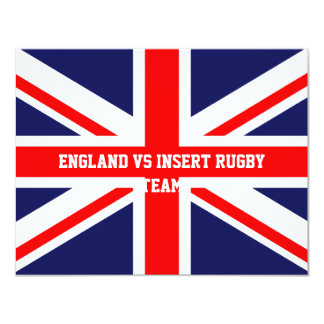 England rugby invitations template