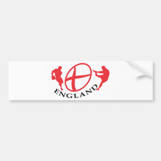 England Rugby player passing kicking ball flag Bumper Stickers