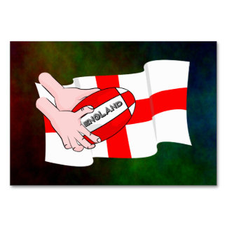 England Rugby Team Supporters Flag With Ball Card
