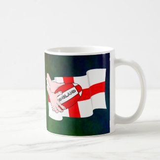 England Rugby Team Supporters Flag With Ball Coffee Mug