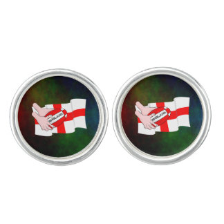 England Rugby Team Supporters Flag With Ball Cufflinks