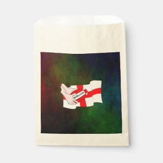 England Rugby Team Supporters Flag With Ball Favor Bag